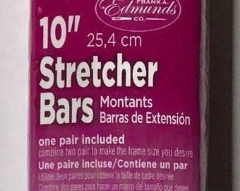 "Needlepoint Stretcher Bars - 10"" Standard Size Stretcher Bars 1 pair"