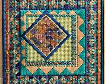 CASBAH REVISITED Geometric Needlepoint  Complete Kit