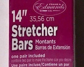 "Needlepoint Stretcher Bars - 14"" Standard Size Stretcher Bars 1 pair"