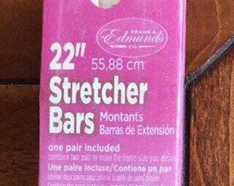 Needlepoint Stretcher Bars - 22 inch Standard Size Stretcher Bars 1 pair