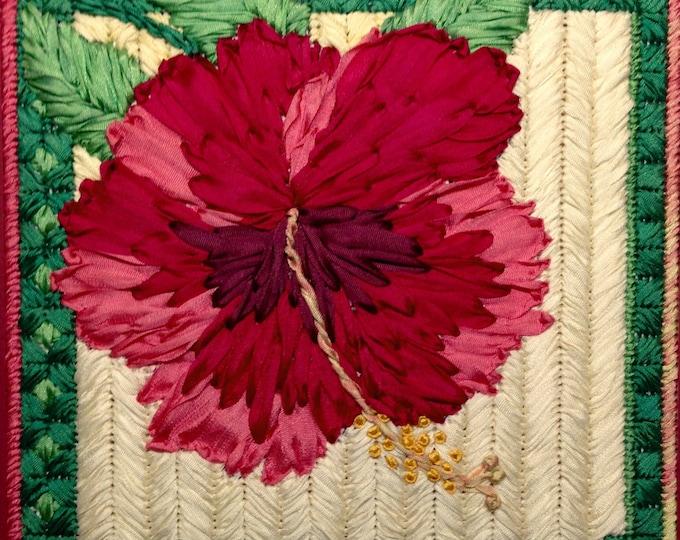 Hibiscus Silk Flower Needlepoint Complete Kit - 2nd in this Silk Flower Series