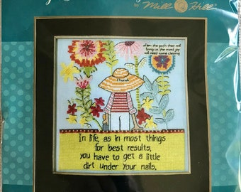 Curly Girl Cross Stitch Complete Kit CG30-2012