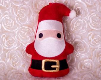 Santa Gnome Plush Ornament / Keychain