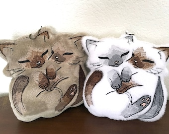Snuggle Kitties Mini Pillow/Ornament