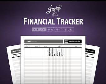 Financial Tracker - CLUB Printable Worksheet
