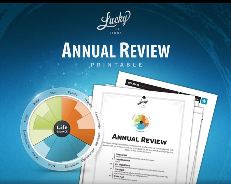 Annual Year-end Review Personal by LUCKY Life Tools image 0