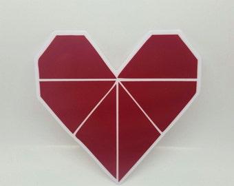 Origami Heart Sticker - Popular stickers, Agenda stickers, Cool stickers, Decorative Stickers, Notebook Stickers, Computer Stickers