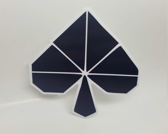 Origami Spade Sticker - Popular stickers, Agenda stickers, Cool stickers, Decorative Stickers, Notebook Stickers, Computer Stickers