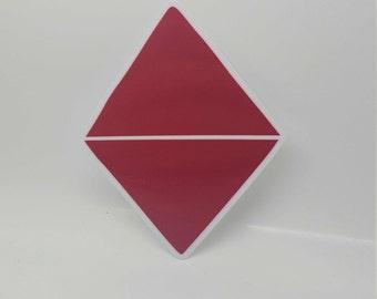 Origami Diamond Sticker - Popular stickers, Agenda stickers, Cool stickers, Decorative Stickers, Notebook Stickers, Computer Stickers