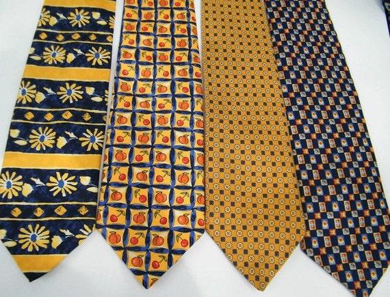 Vintage silk necktie Navy necktie Mens necktie Mens vintage necktie Vintage mens gift funny husband gift Vintage suit accessories for men