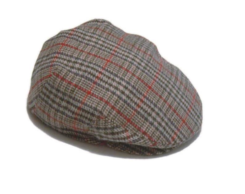62f8002d95a85 Vintage gray IVY CAP plaid cap Autumn Flat Cap Newsboy cap