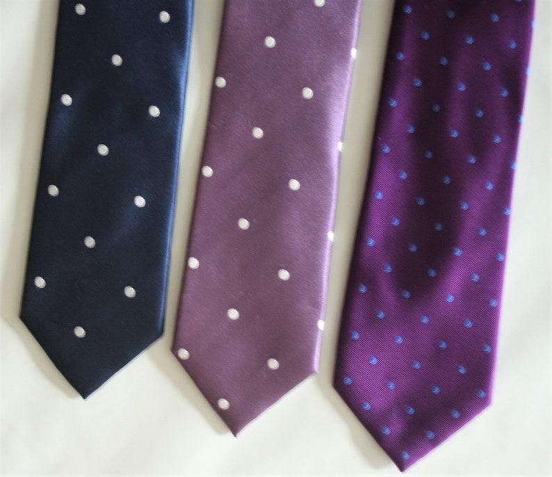 454d46fef121 Vintage wedding tie Lot of 3 silk tie Polka dots necktie | Etsy