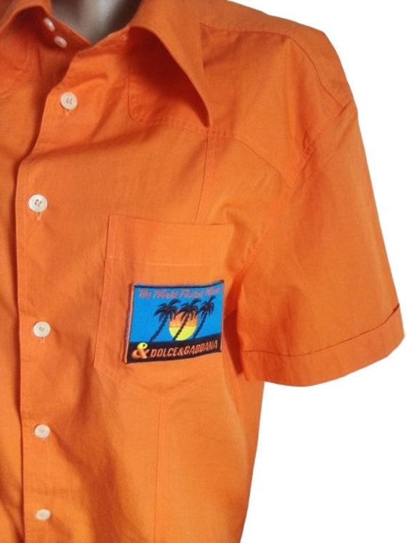 Dolce Gabbana mens shirt Button down Summer short… - image 2