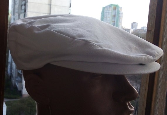 d2312c220 White summer Ivi cap Men's sun protection Flat cap Cotton newsboy hat  Captain cap golf cap driving cap