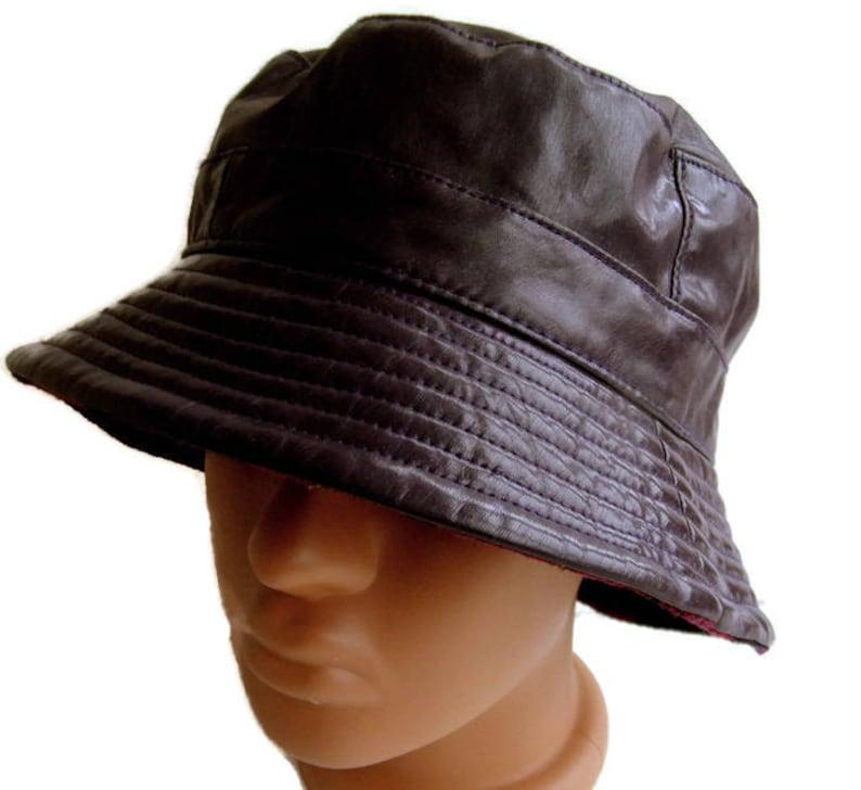 92cc281b Vintage purple bucket hat Fisherman hat Patent vinyl Hip-hop | Etsy