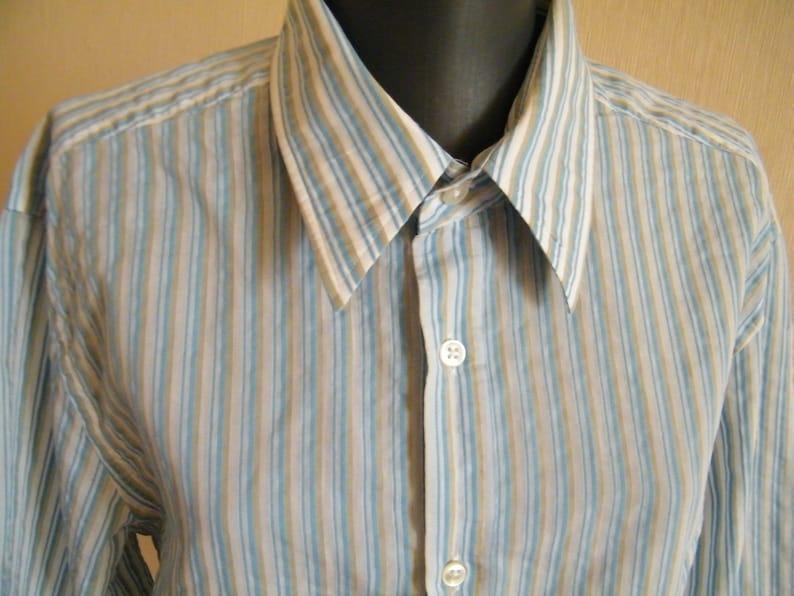 a4d32a82d HUGO BOSS men's shirt Designer slim fit shirt Blue white | Etsy