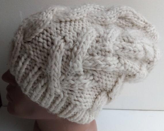 Vintage Chunky beanie Hat Winter oversize hat Ivor