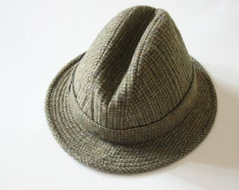 Vintage TRILBY hat Vintage  60s tweed  HAT fedora hat mod hat  british GAMEDOG 60s hat
