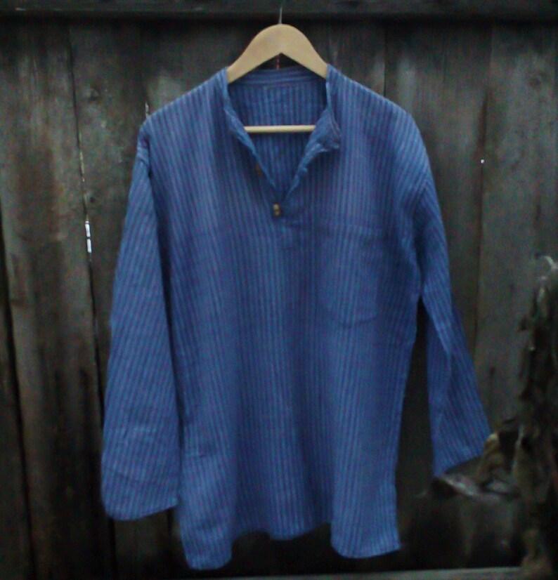 3b61fc5d2fa BOHO shirt Hippie shirt Blue Indian tunic shirt Ethnic | Etsy