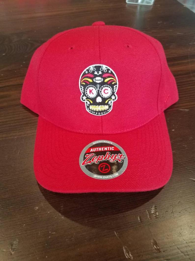 5d162901 KC Chiefs sugar skull snap back Zephyr hat