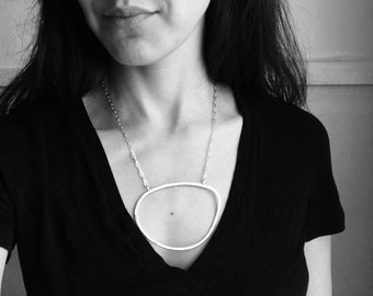 Geometric Statement Necklace, Modern Statement Necklace, Abstract