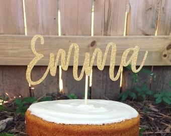 Custom Name/ Word Glitter Cake Topper, Birthday Cake Topper, Personalized Cake Topper, Wedding Shower Cake Topper, Baby Shower Cake Topper