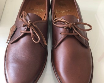 b92379a7308 Vintage Carcavelos Handmade Shoes Lily-white Brown leather Size 5.5 lace up  shoes - never worn!
