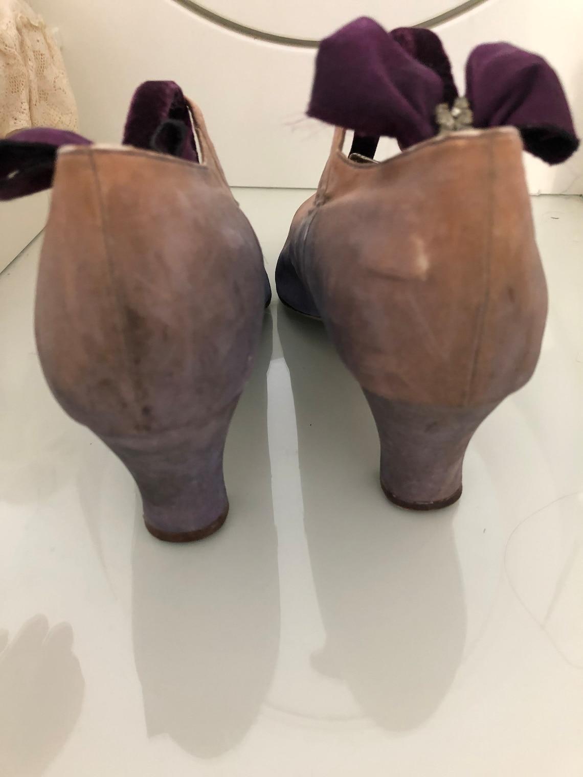 1920 LIlac Zapatos de Seda - Zapatos Harrods - Zapatos Flapper - Zapatos cosidos a mano