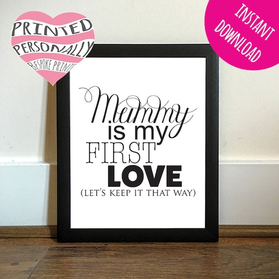 I Love Mummy First Love Printable Digital Download Diy Etsy How to keep a mummy (japanese: etsy