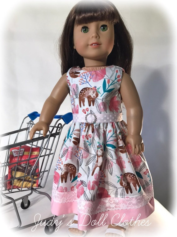 18 Doll Sloth Dress Retro fits American girl our generation my life
