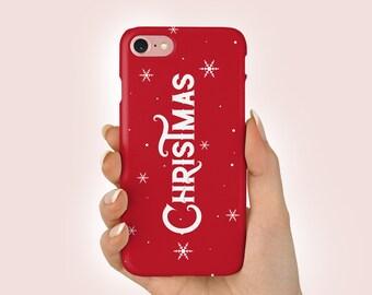 online store a86c3 8e3b7 Christmas phone case   Etsy