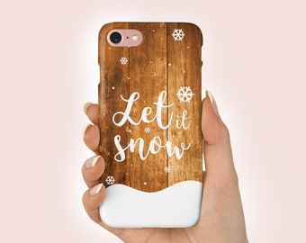 let it snow phone case christmas available for iphone x xs xr xs max 8 8 plus 7 7 plus 6 6s 6 plus se 5 samsung huawei