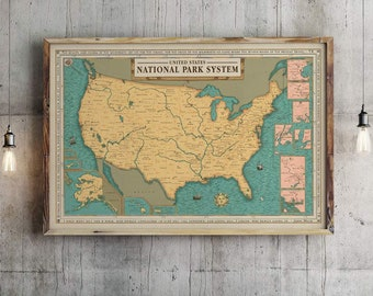 National Park System Units Map Poster National Park Service ...