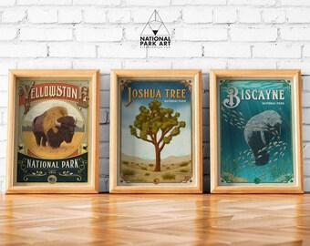 Original vintage poster EUROPEAN BISON SWISS ANIMAL PARK