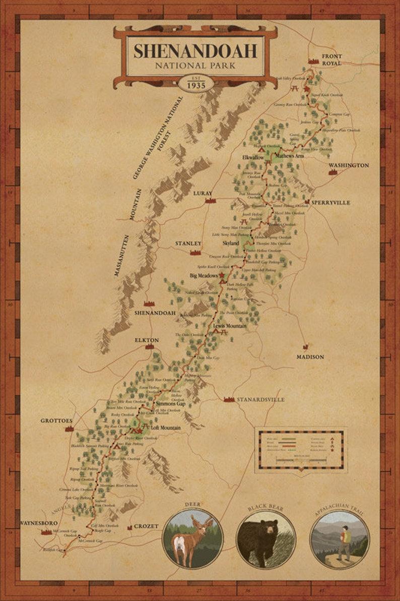 Map Of America Virginia.Shenandoah National Park Map See America Map Virginia Park Map Shenandoah Park Map