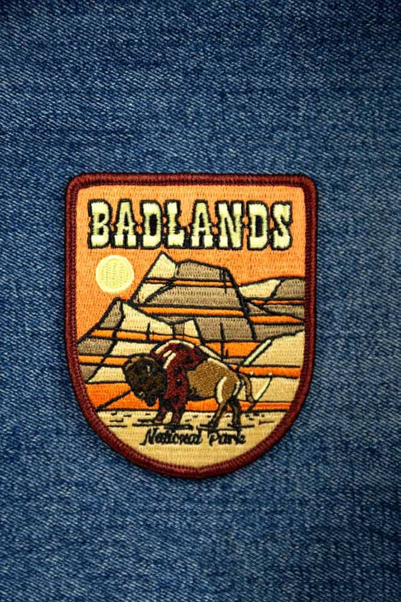 Badlands National Park Full embroidered illustrated iron-on patch