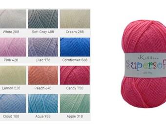 Cygnet DK MOTHER OF PEARL Wool Double Knitting Yarn 100g Acrylic  *MULTI OFFER*