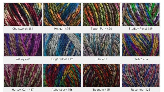 UK CYGNET CHUNKY WOOL BALL ACRYLIC KNITTING CROCHET YARN 7 COLORS