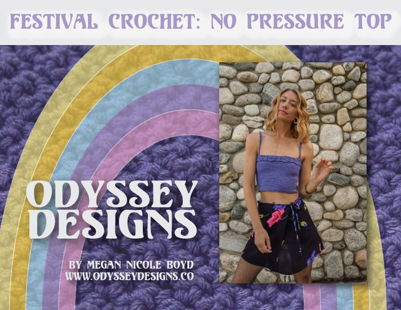 No Pressure Top Festival Crochet Pattern image 0