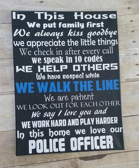 In This Police Officer House 12x16 Etsy