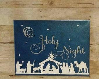 O Holy Night canvas 12x16