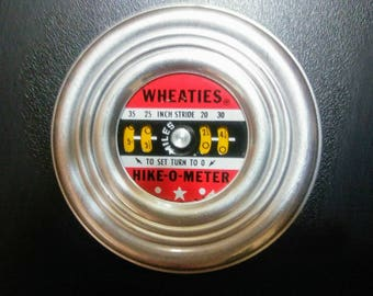 Wheaties Hike-O-Meter/Vintage Wheaties Pedometer/1940's Wheaties Hike-O-Meter/Wheaties Working Pedometer/Send Away Premium Prize Advertising