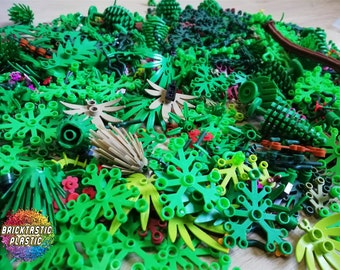 LEGO LOT OF 20 NEW 6 X 5 DARK RED PLANT LEAVES SHRUBS PIECES