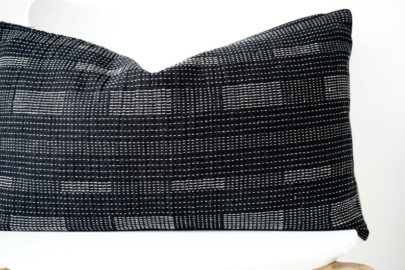 Black Striped Pillow Cover image 0