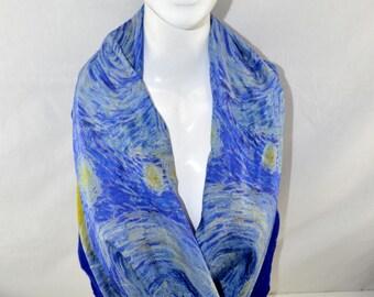 Nuno Felted Silk Scarf from Bursa, Turkey: Van Gogh The Starry Night