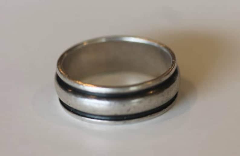 09fd3511a5ac Vintage Plata Taxco México superposición banda anillo tamaño