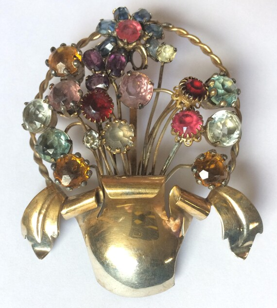 Fred A. Block, Floral Brooch, Collectable Costume
