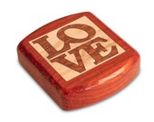 Romantic Love Box, 2 quot Padauk Wood Marquetry Box, Handmade Wood Box, Small Heartwood Box, Dating Anniversary Gift for Boyfriend Girlfriend
