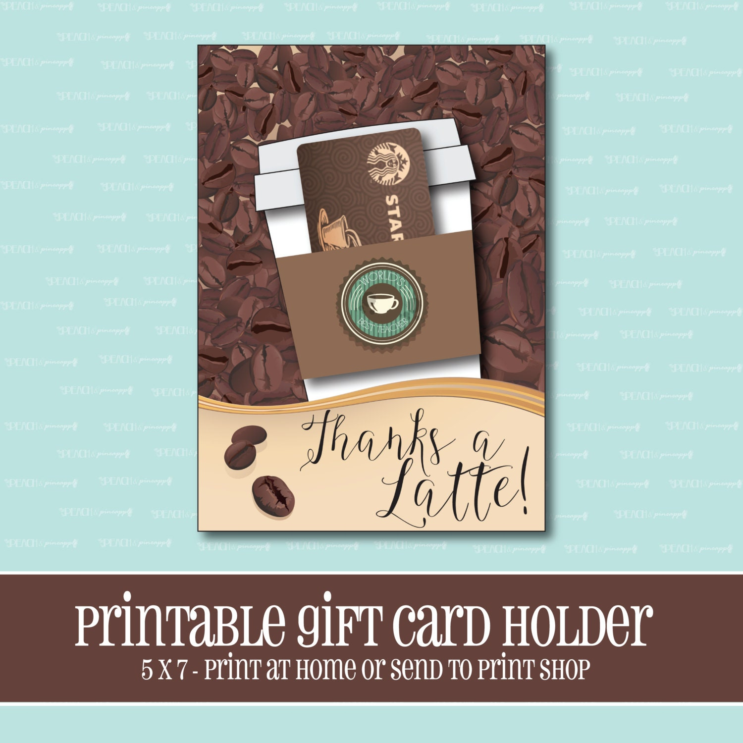 image about Starbucks Printable Gift Card referred to as Instantaneous Down load, Starbucks Reward card Holder, Owing a Latte, Present Card Holder, Trainer Appreciation Present, Printable, Printable Reward Card