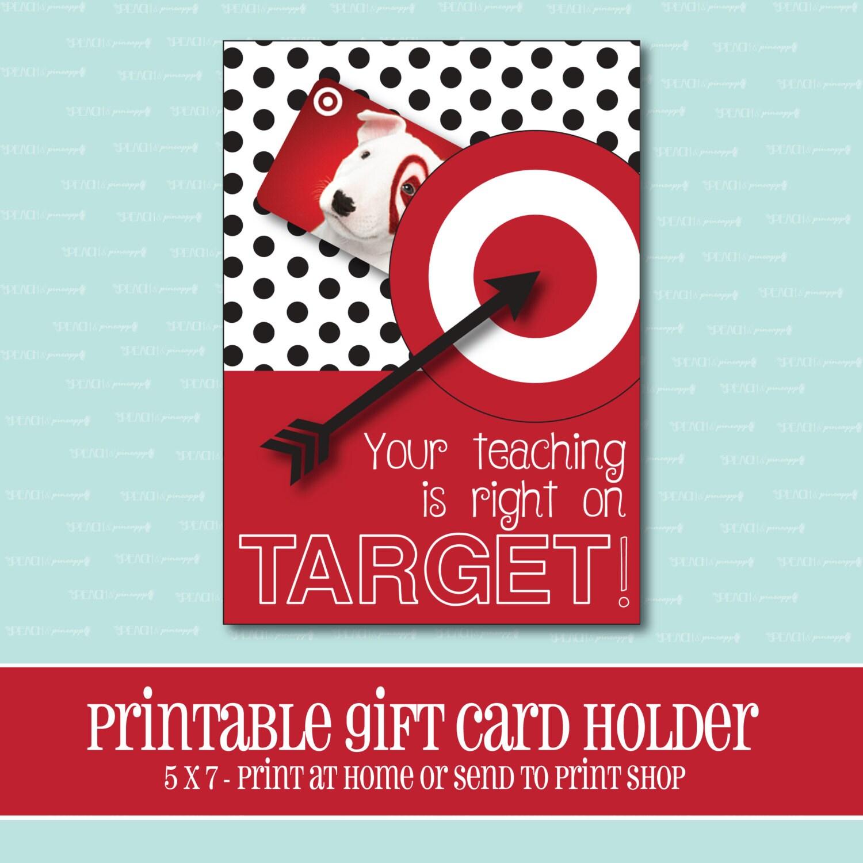 instant download target gift card holder amazing teacher. Black Bedroom Furniture Sets. Home Design Ideas